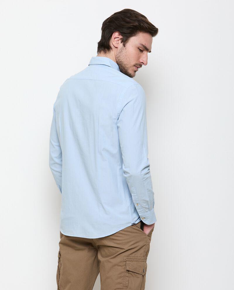 Camicia tinta unita di puro cotone uomo single tile 1