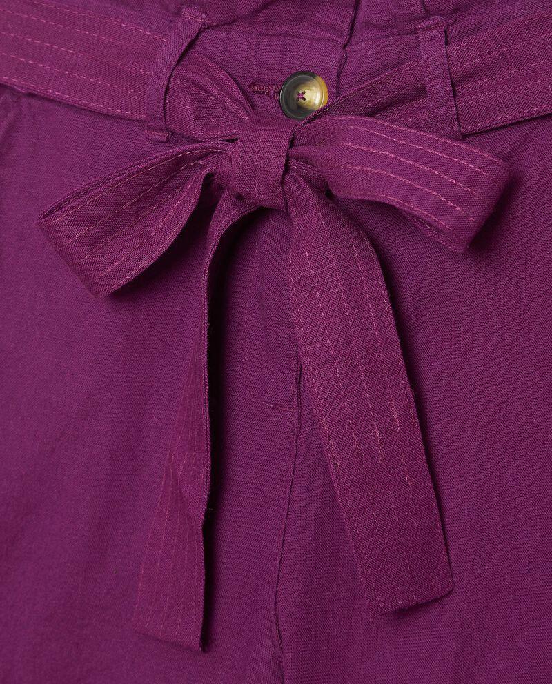 Shorts in misto lino con fusciacca single tile 1
