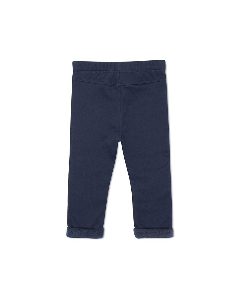 Pantaloni tasche cuciture a contrasto