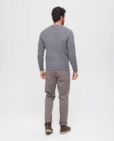 Pullover tricot con trama geometrica