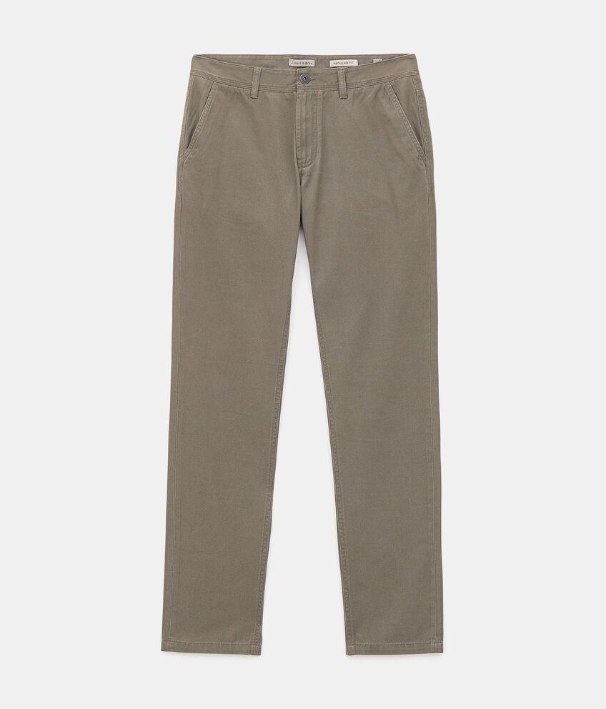 Pantaloni chino di puro cotone uomo double 1