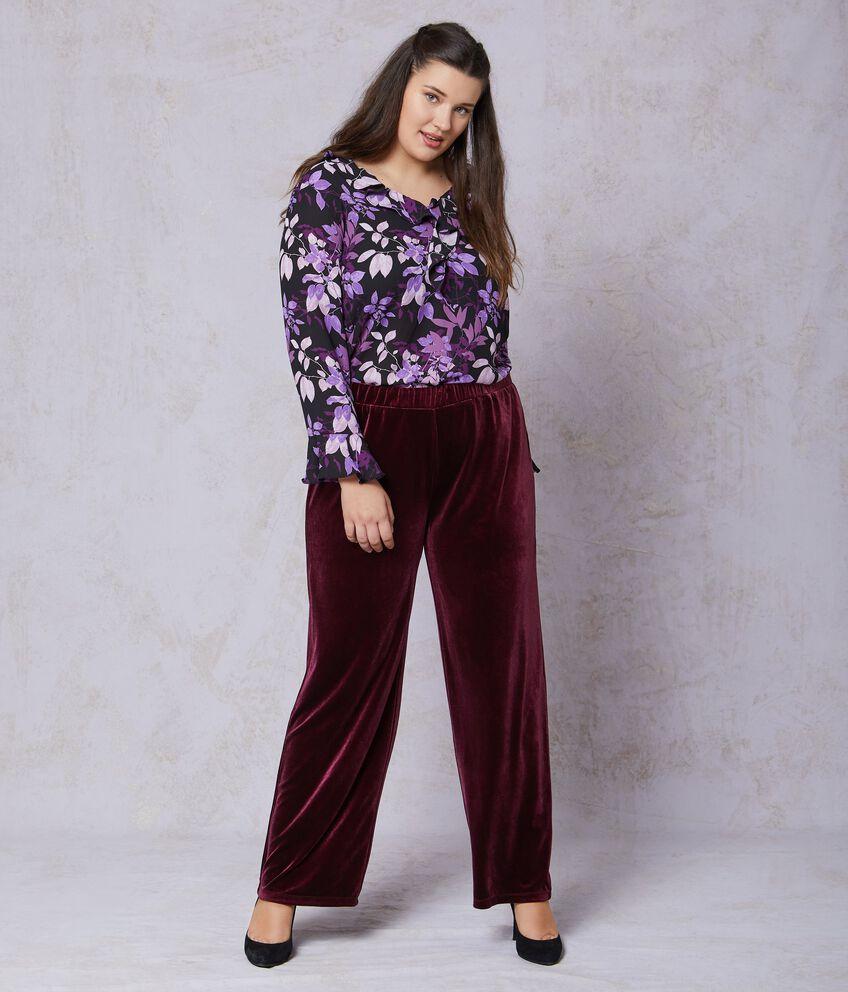 Pantaloni in velluto linea comoda