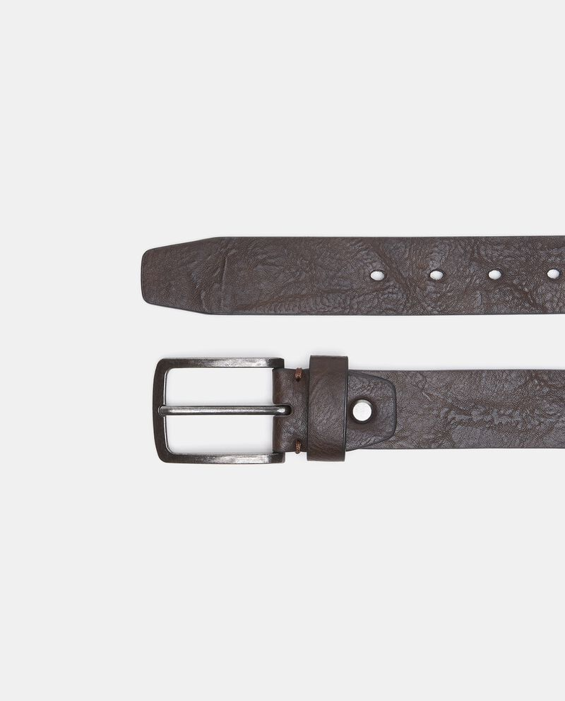 Cintura in tinta unita con effetto similpelle uomo