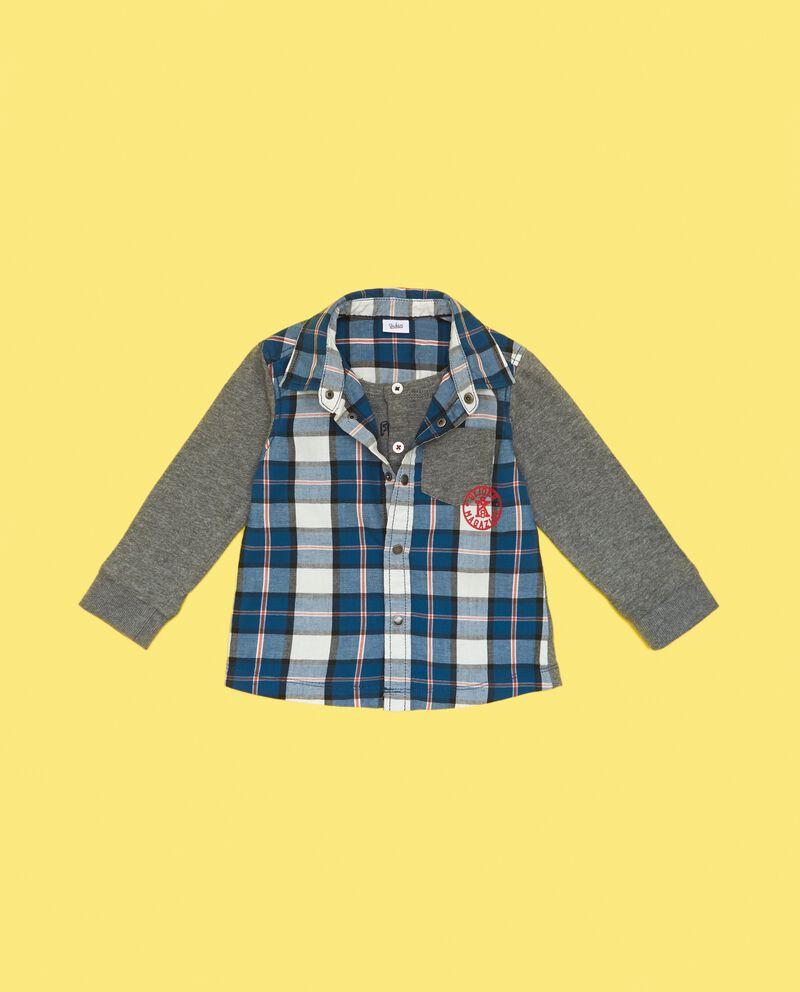 Felpa con camicia a quadri neonato