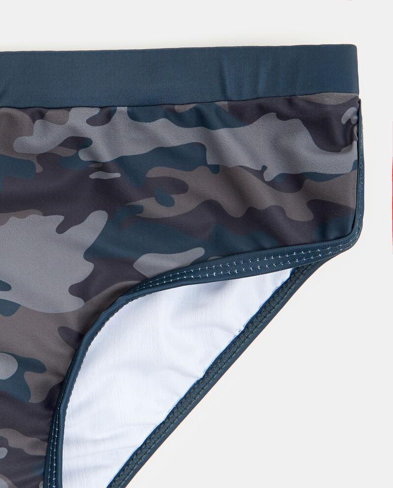 Costume slip con fantasia militare ragazzo