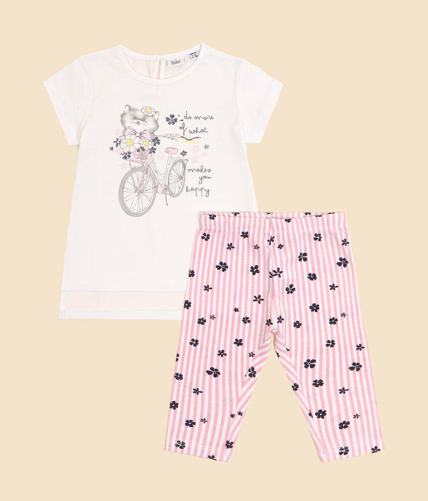 Set con t-shirt lunga e leggings neonata