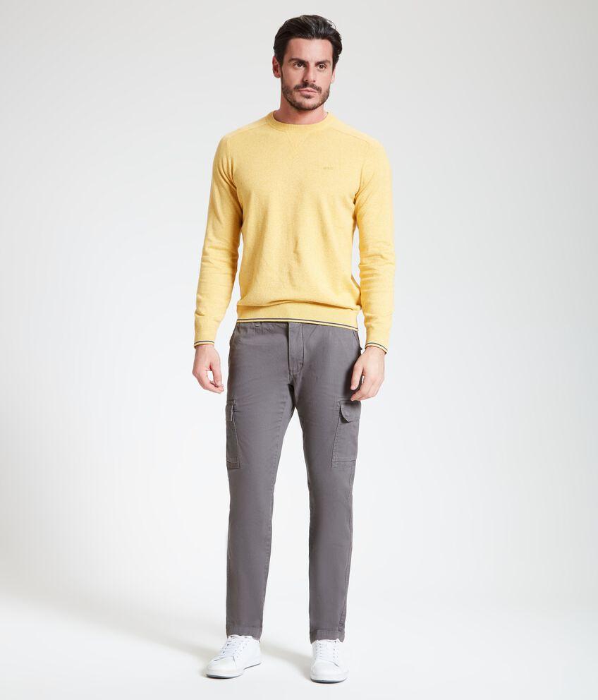 Pantaloni cargo in puro cotone uomo