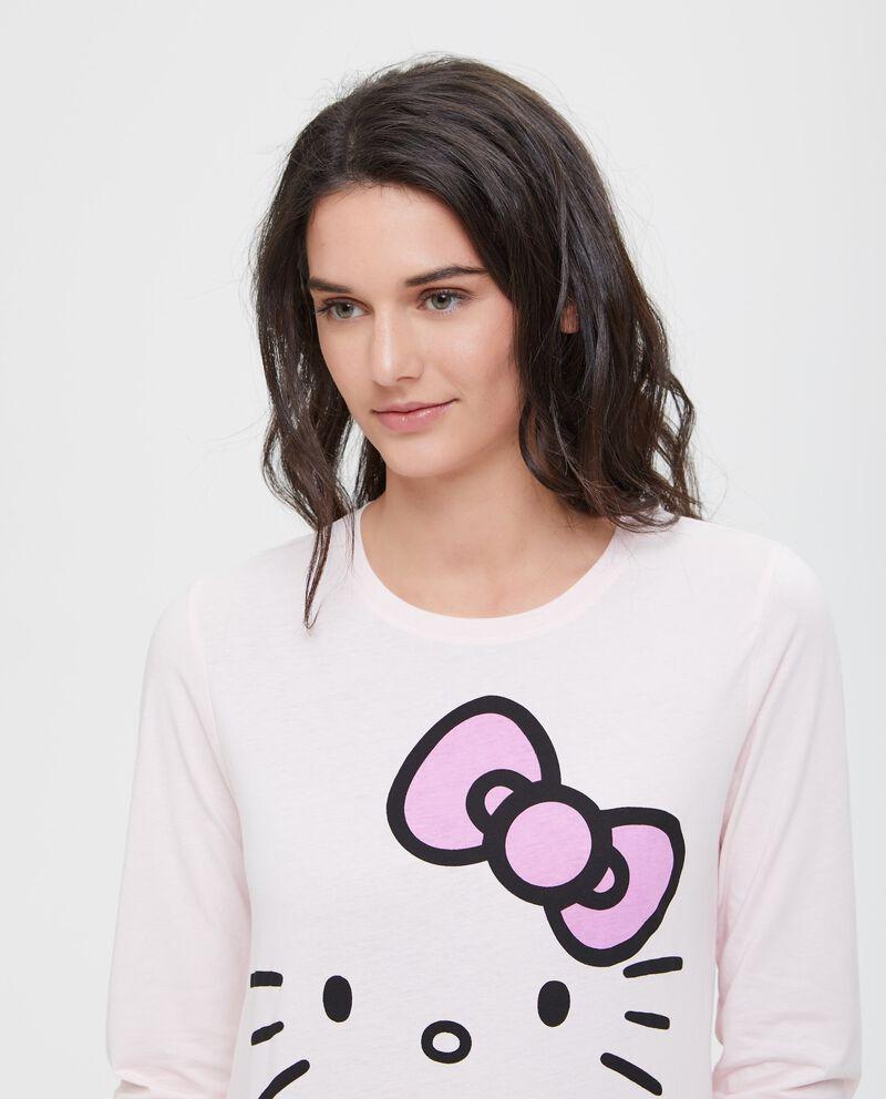 Maglia pigiama maxi stampa Hello Kitty
