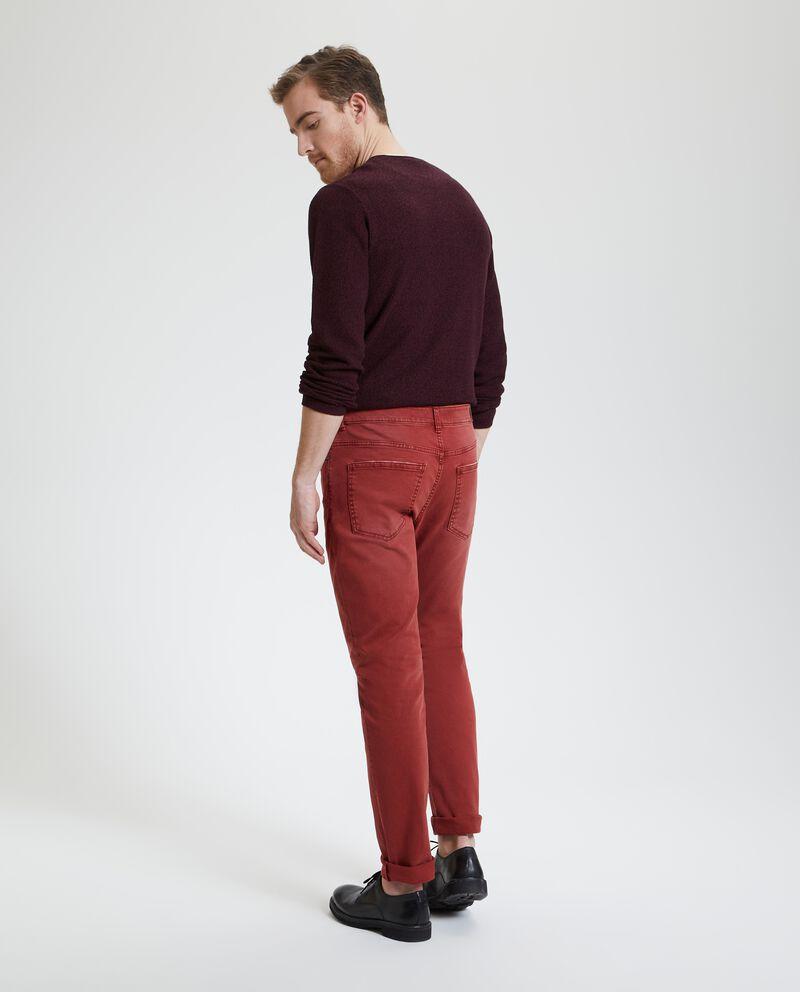 Jeans slim in tinta unita uomo