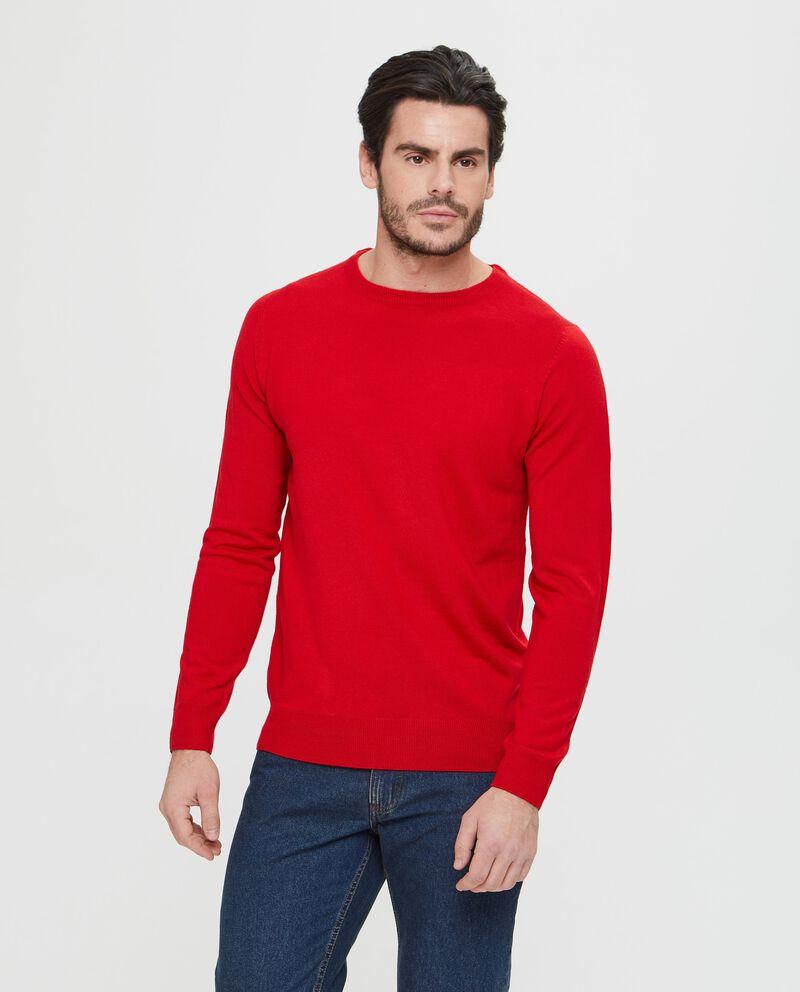 Maglione rosso tinta unita