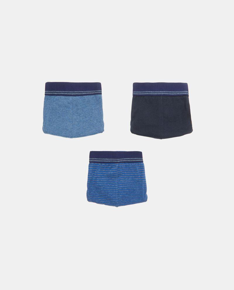 Set con 3 slip in cotone elasticizzato uomo