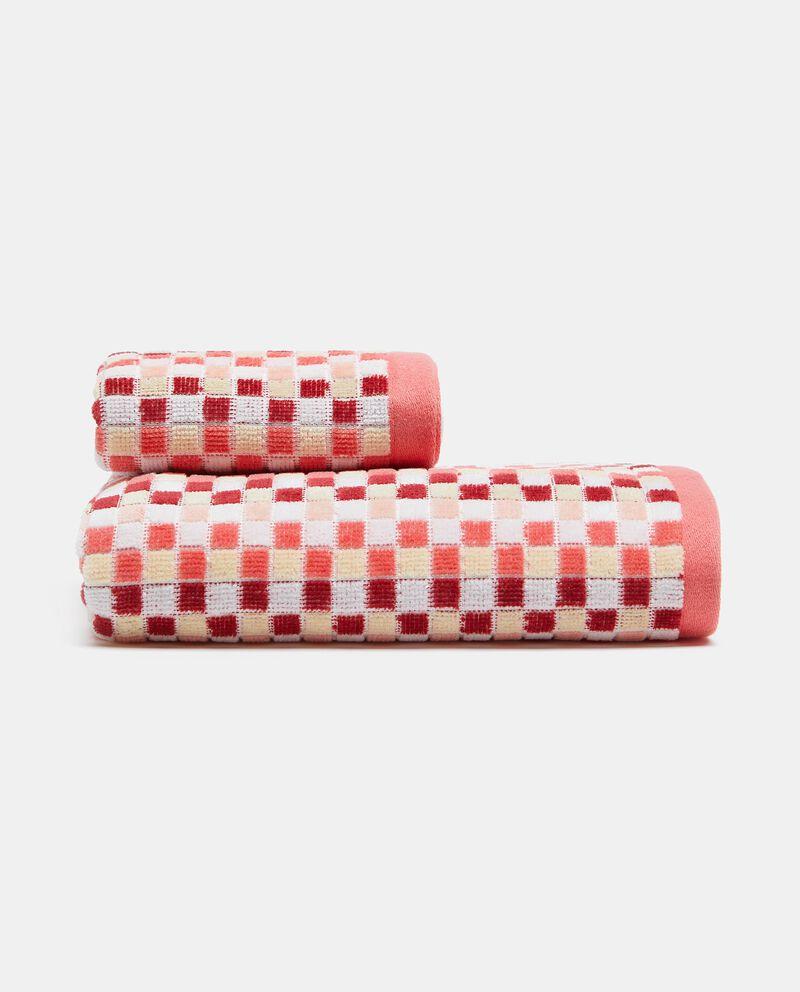 Asciugamano ospite con stampa mosaico in puro cotone