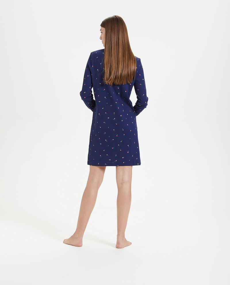 Camicia da notte in puro cotone e costine