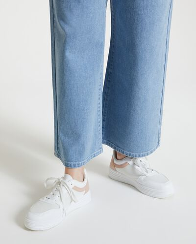 Jeans culotte fit in puro cotone