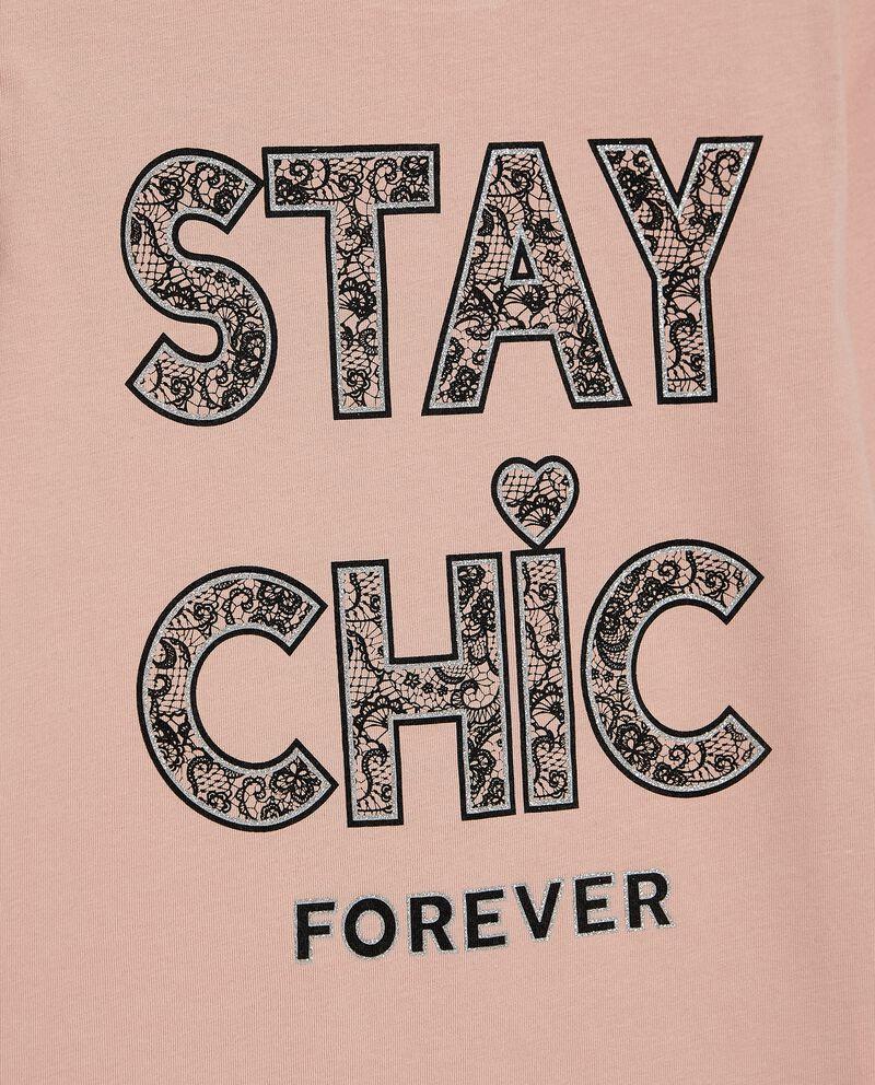 T-shirt con stampa in puro cotone biologico ragazza single tile 1