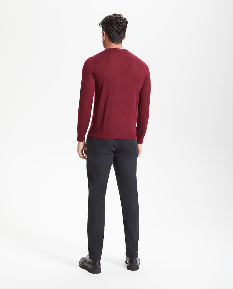 Pullover in pura lana merino uomo