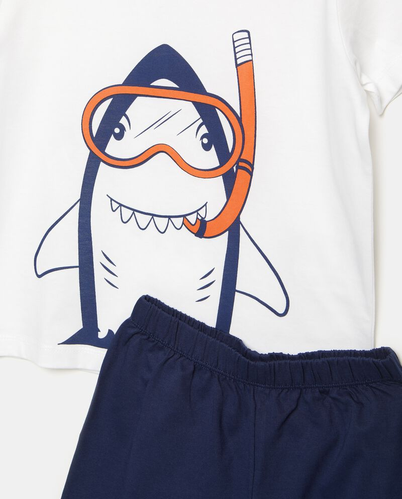 Set pigiama t-shirt e shorts puro cotone bambino single tile 1