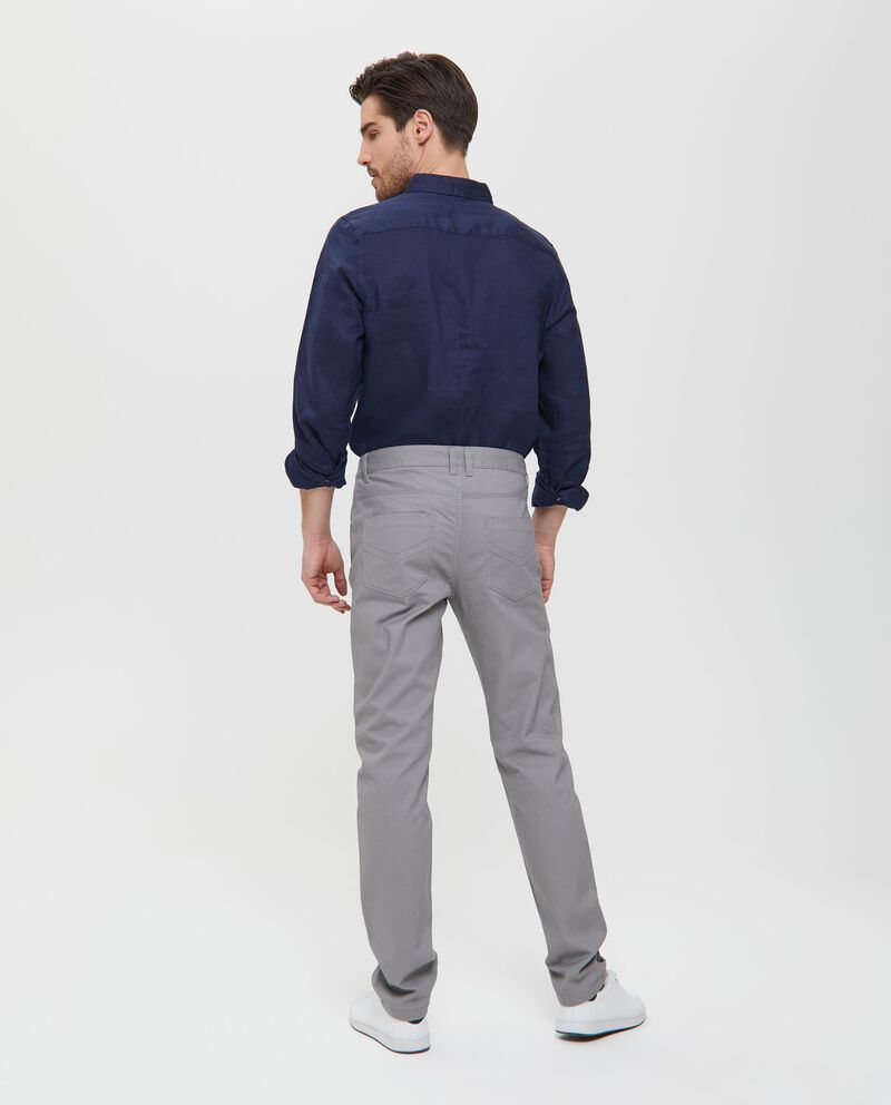 Pantaloni in cotone grigi cinque tasche uomo