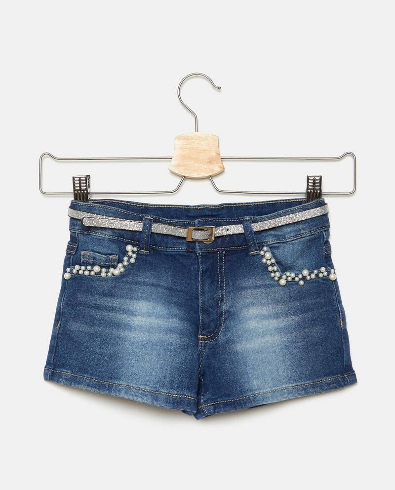 Shorts con perle applicate bambina