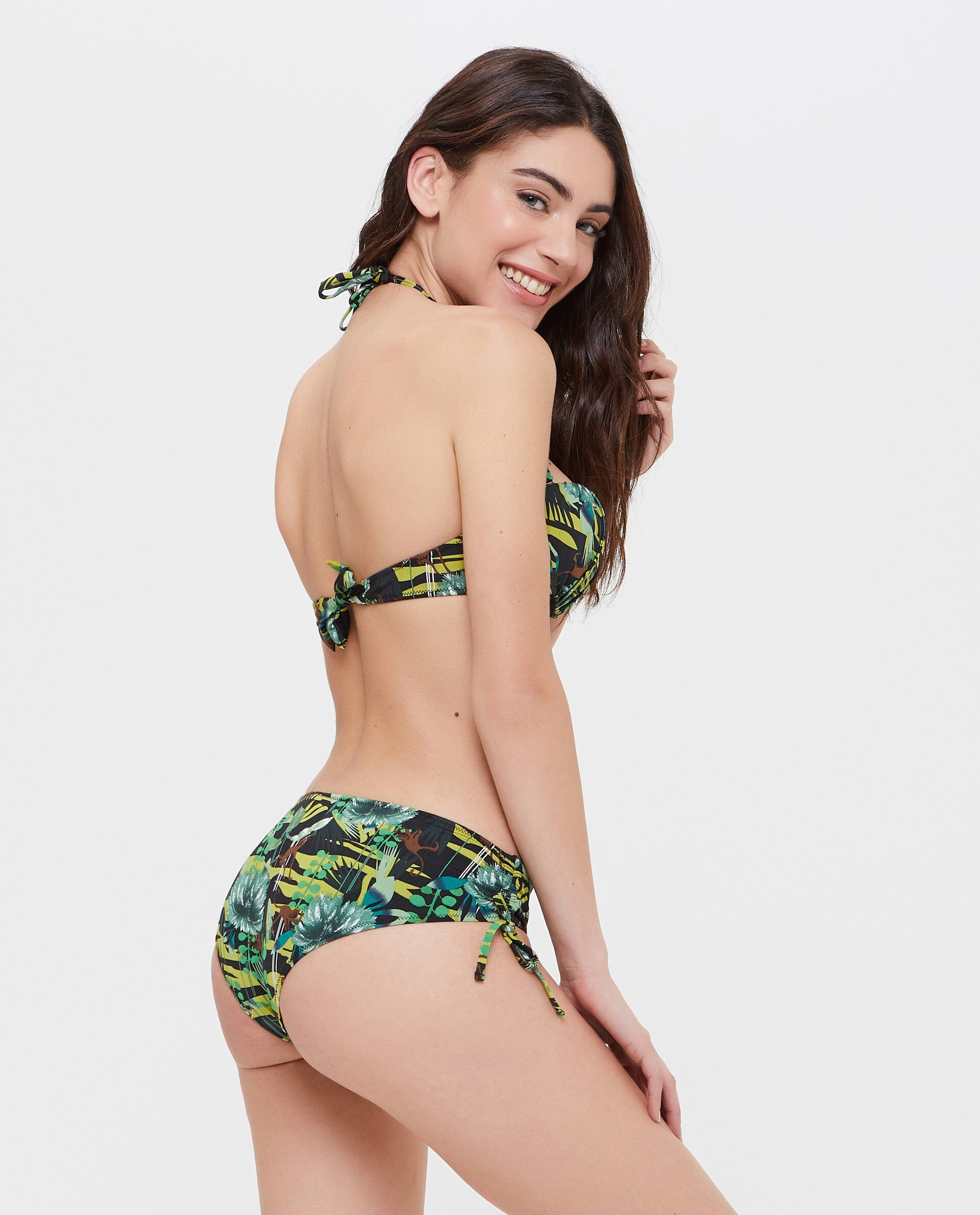 Slip Bikini tropicale