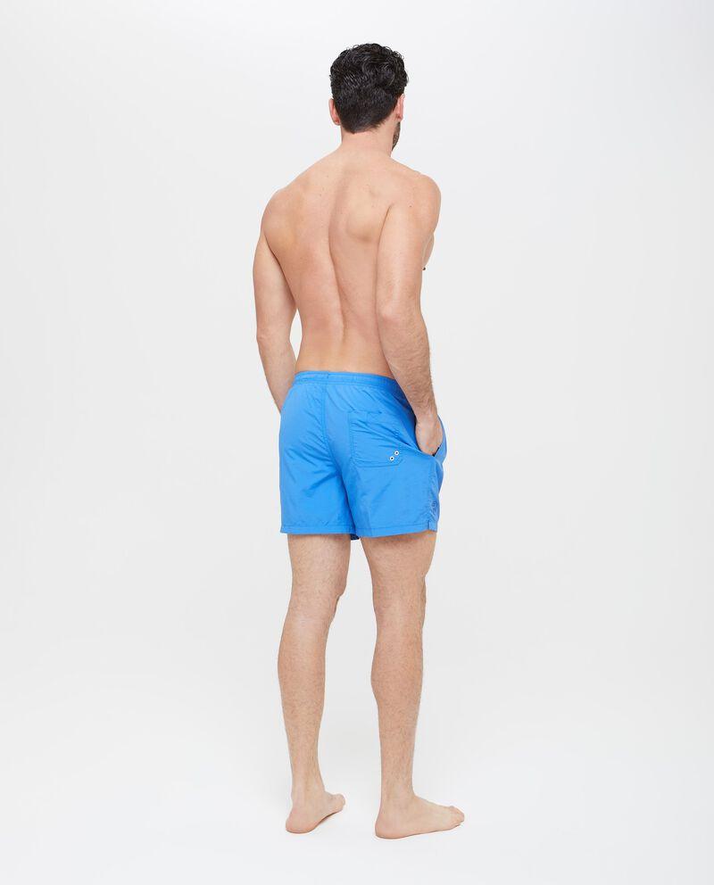 Shorts mare con tasche in tinta unita uomo