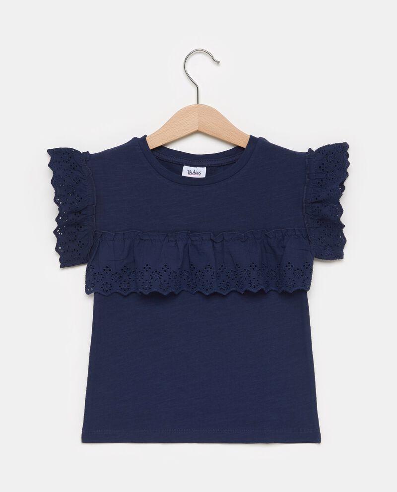 T-shirt in puro cotone con ruche bambina