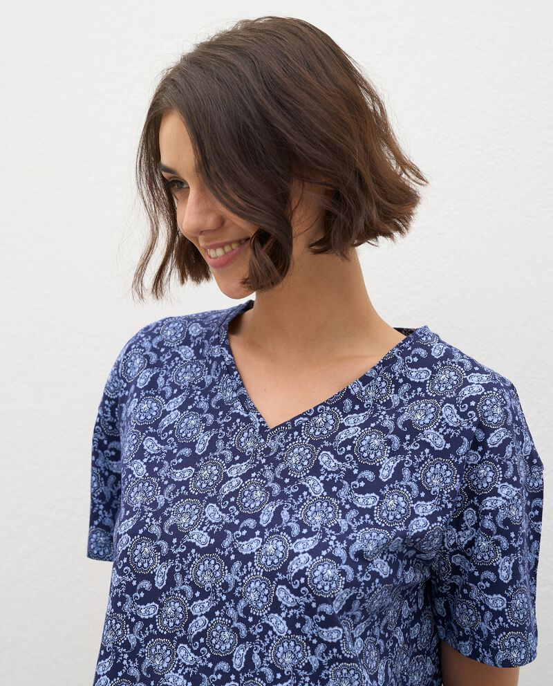 T-shirt pigiama in puro cotone donna single tile 2