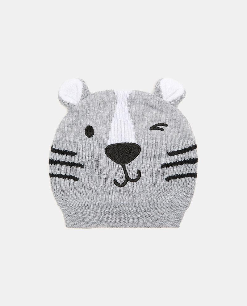 Berretto tricot con tigre neonato cover