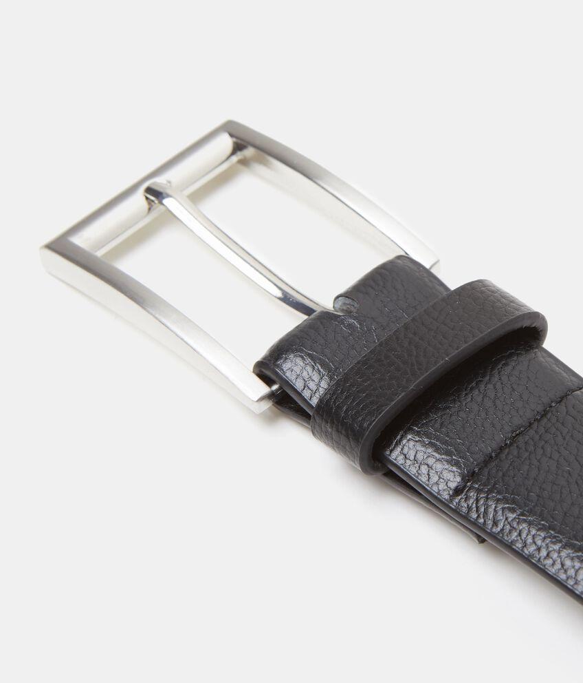 Cintura nera effetto similpelle saffiano uomo