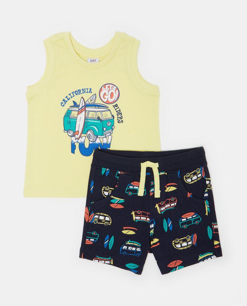 Set canotta e shorts con fantasia neonato