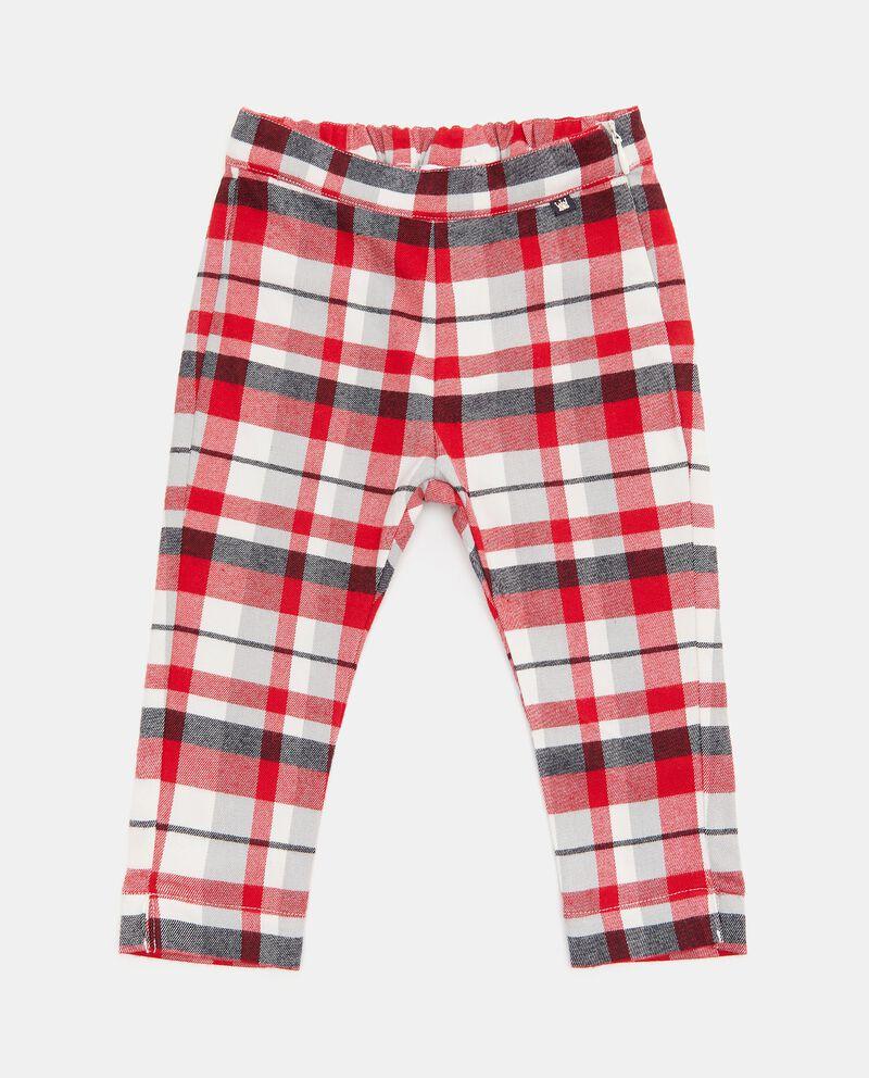 Pantaloni con motivo a quadri neonata