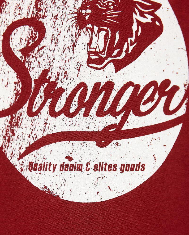 T-shirt con lettering in puro cotone ragazzo single tile 1
