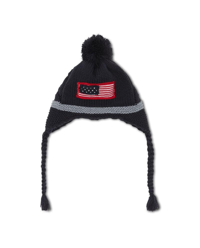 Cappello a cuffia con pon pon