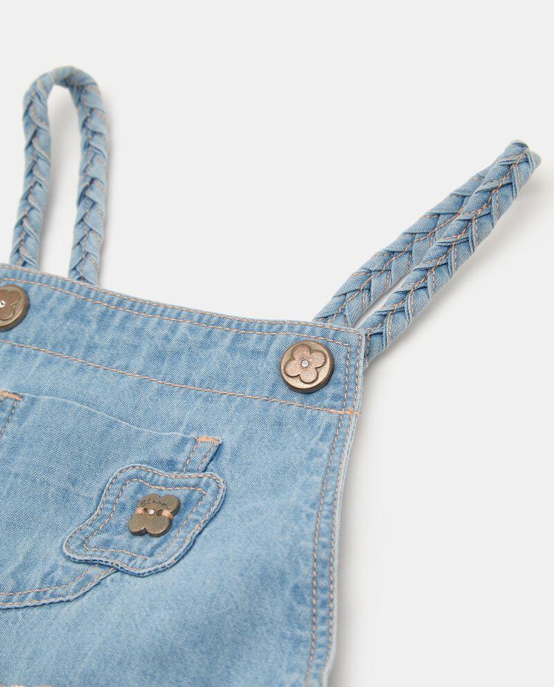Salopette denim con tasca neonata