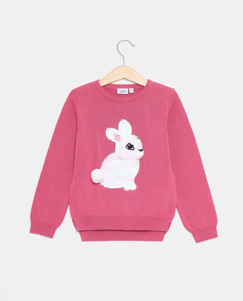 Pullover tricot con paillettes bambinadouble bordered 0