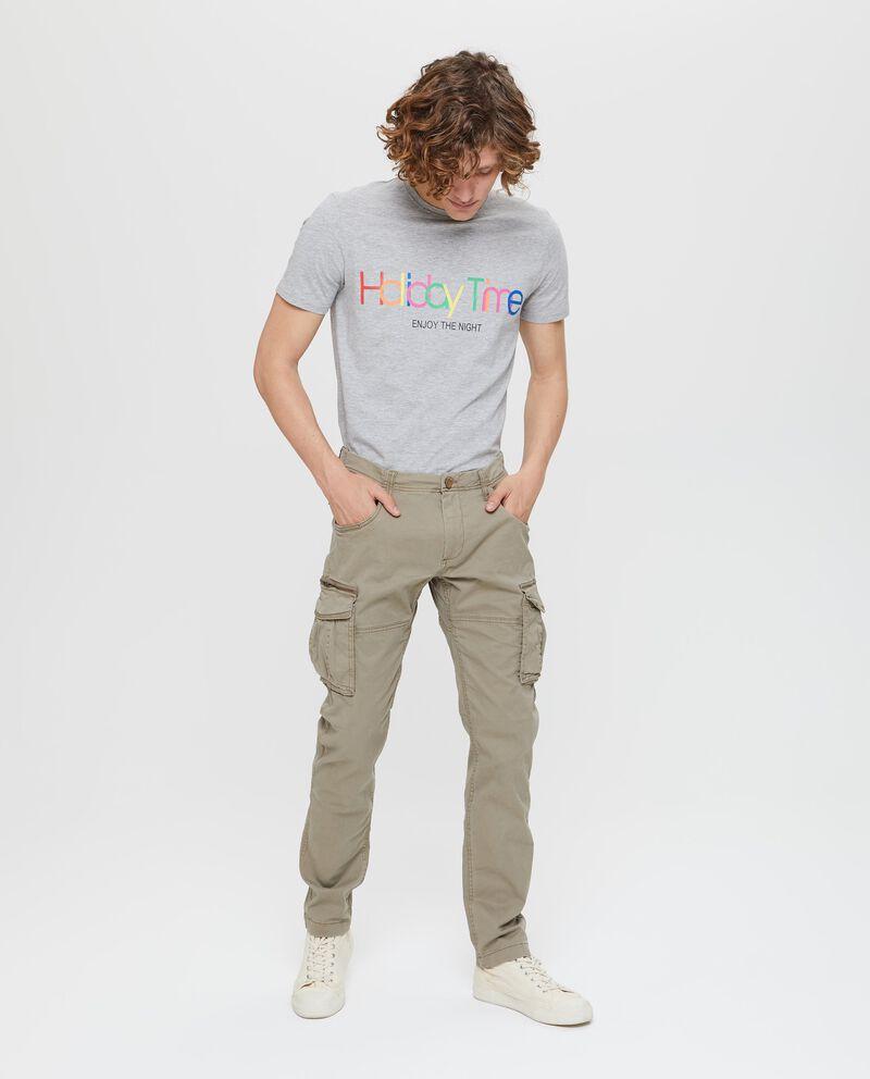 Pantaloni modello cargo stretch