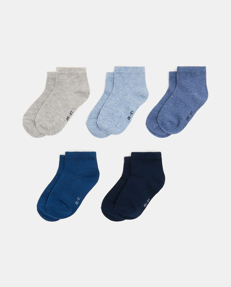 Pack con 5 paia di calzini di cotone organico bambino cover