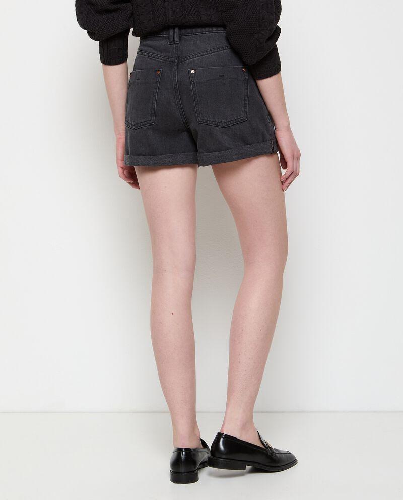 Shorts denim in puro cotone