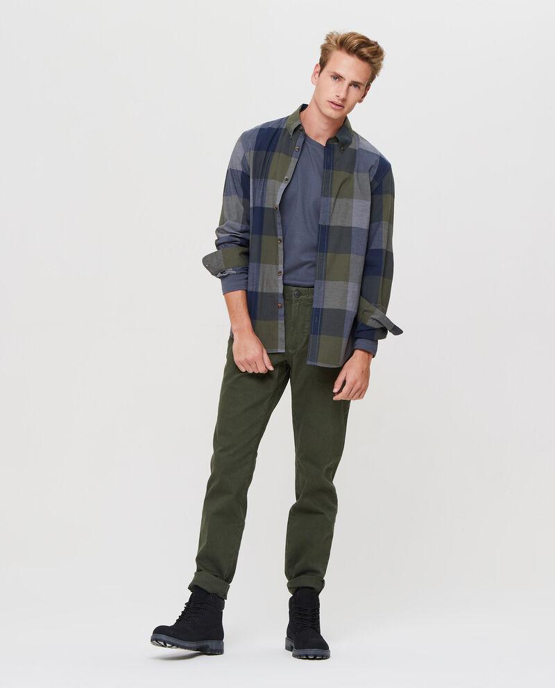 Pantaloni chino stretch tinta unita