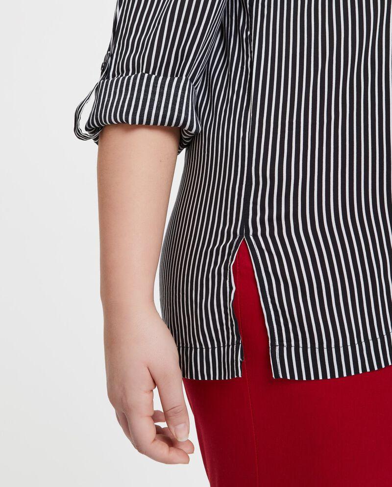 Camicia in pura viscosa a righe Curvy