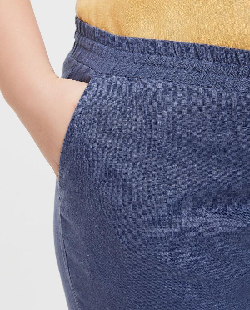 Pantaloni in puro lino Curvy donna