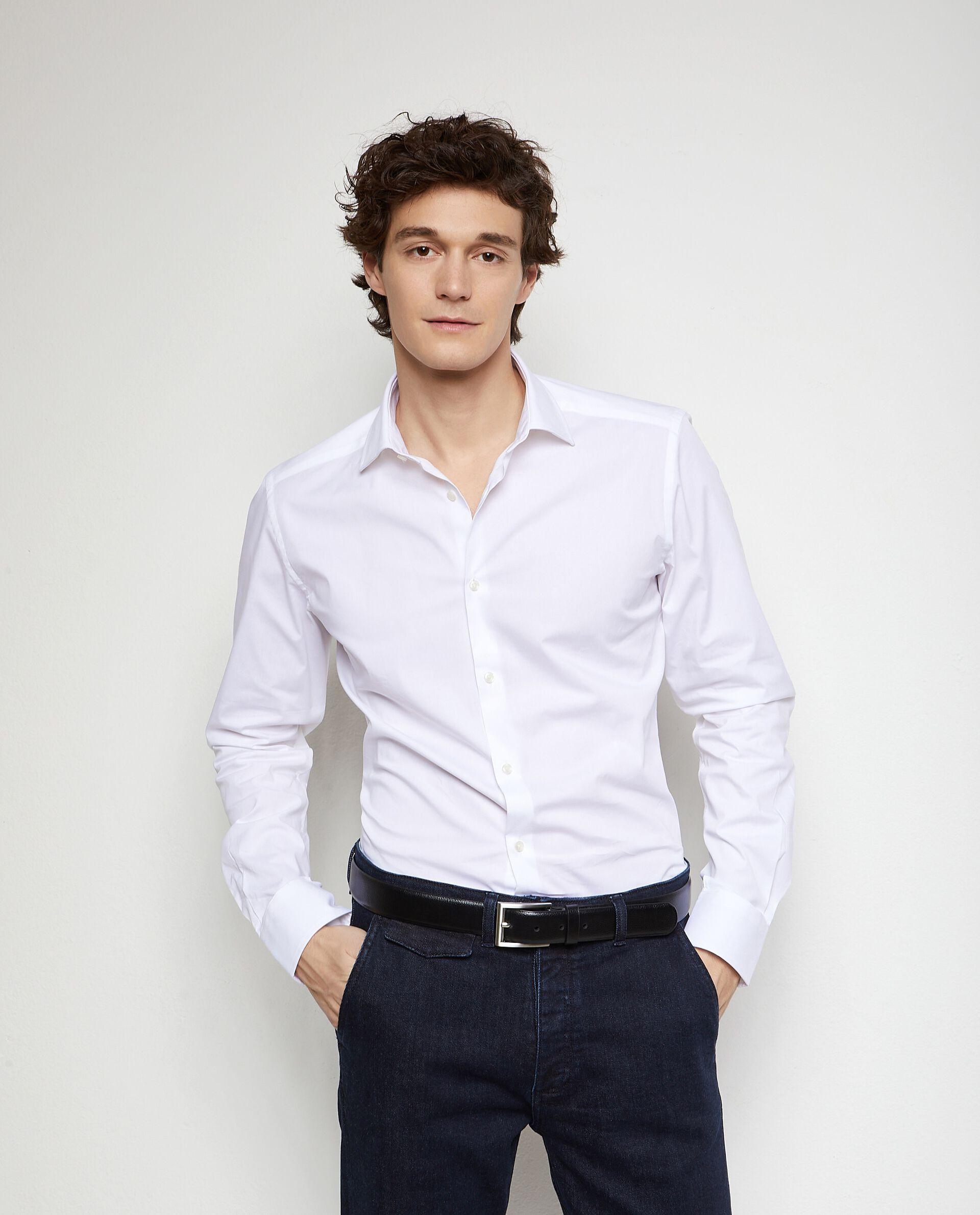Camicia in cotone elasticizzato uomo