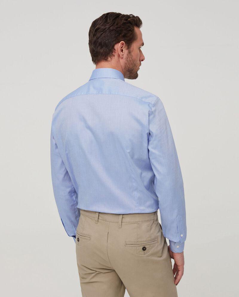 Camicia in puro cotone tinta unita