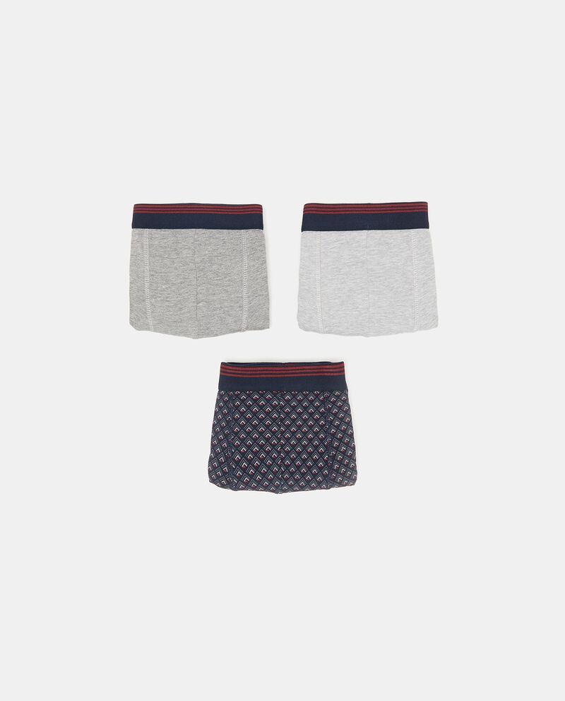 Set con tre boxer in cotone elasticato uomo