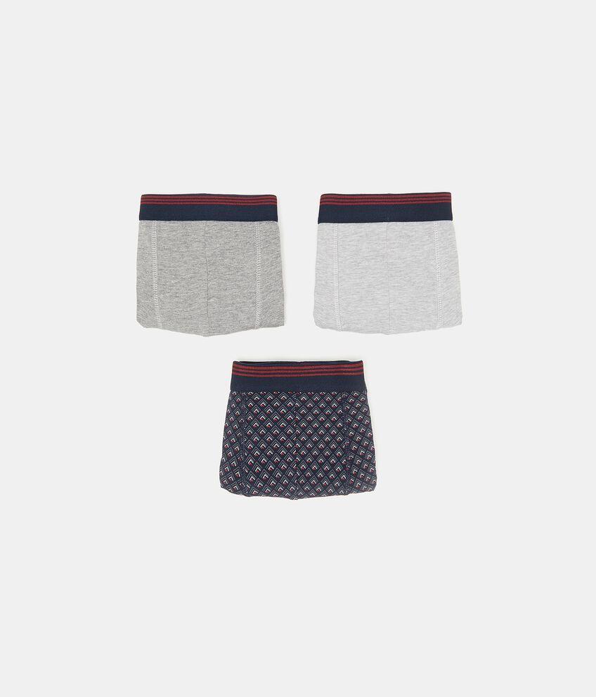 Set con tre boxer in cotone elasticato uomo double 1