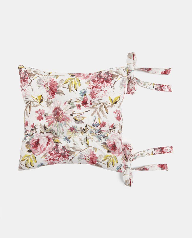 Cuscino floreale con laccetti