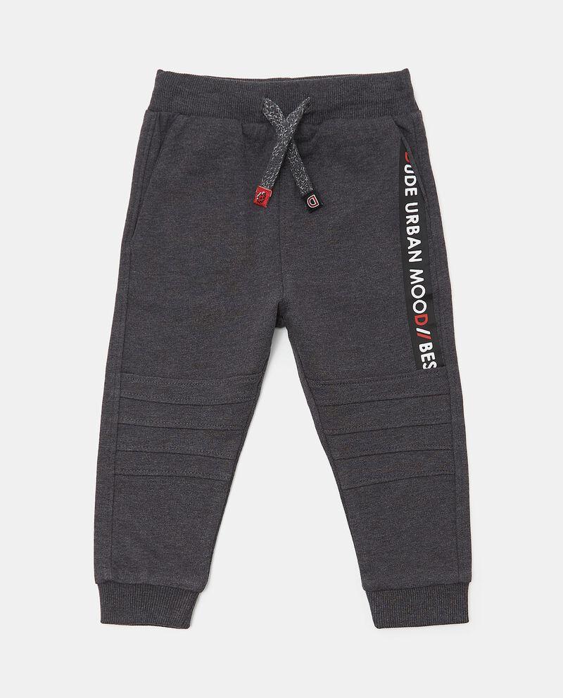 Pantaloni in cotone biologico con lettering neonato