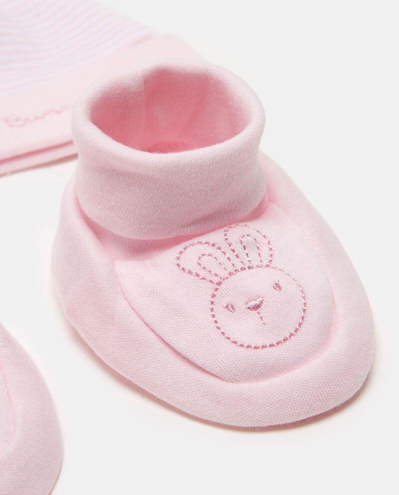 Completo berretto e scarpine coniglietto
