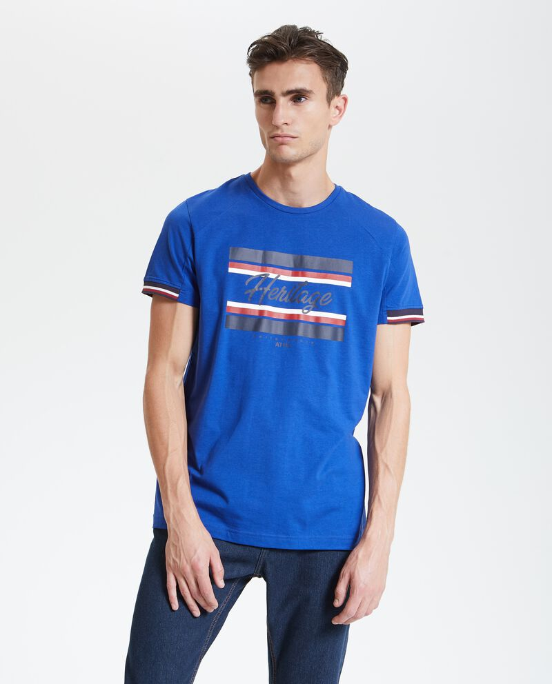 T-shirt con stampa fitness uomo