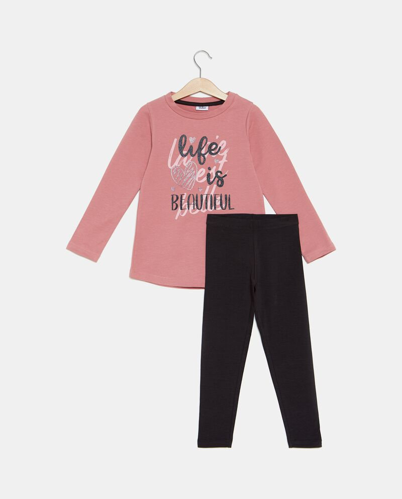 Set t-shirt e leggings bambina